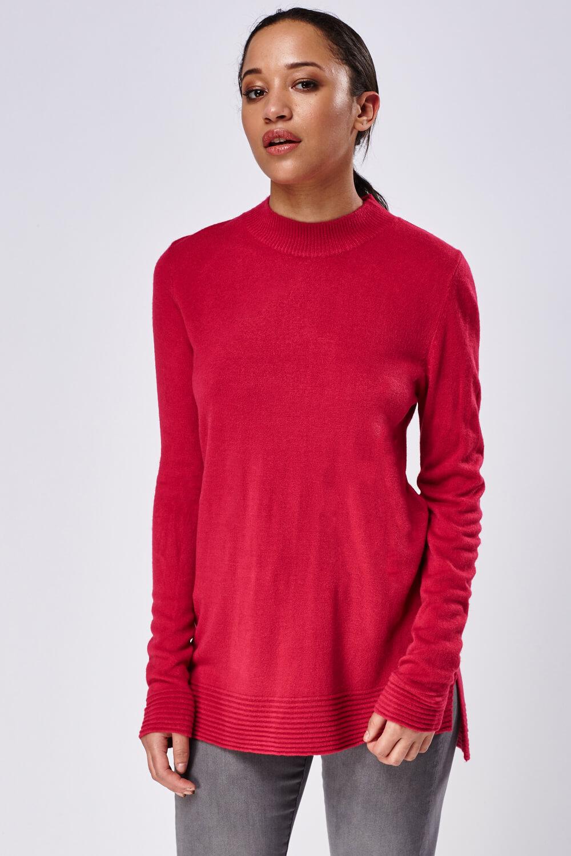 women's fuchsia pink jumper