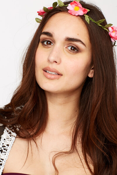 floral headband wedding guest hairstyle celebrity beauty looks