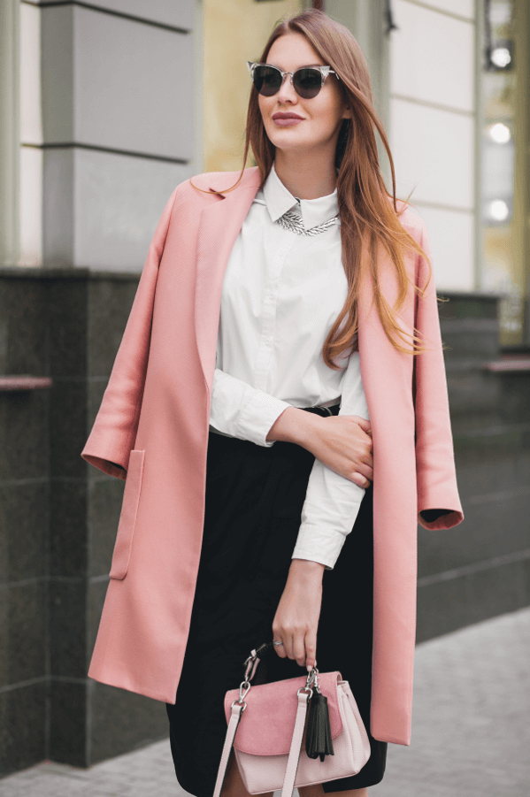 woman in pink coat street style pink fashion breast cancer awareness clothes to wear for the big pink